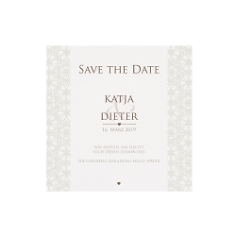 Save-the-Date-Karte oder Dankeskarte