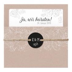 """Hochzeitseinladung """"Rosie"""" Naturpapier"""