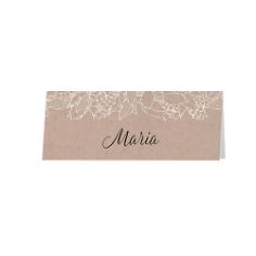 """Tischkarte """"Rosie"""", 6 St., bedruckbar Kraftpapier"""