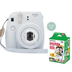 Instax Mini 9, weiß, inkl. Selfie-Linse und Filme