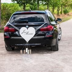 Autoschmuck Herz mit Blechdosen, Klassik
