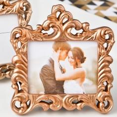 Mini Fotorahmen Hochzeit Barock Kupfer