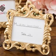 Mini Fotorahmen Hochzeit Barock Gold
