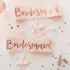 Schärpe Bridesmaid, roségold