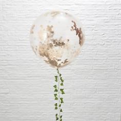 XXL Ballons mit Konfetti, roségold, ca. 91 cm, 3 St.