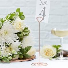 Tischnummernhalter Herz für die Hochzeit