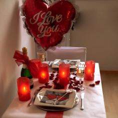 Deko Set für Romantisches Dinner