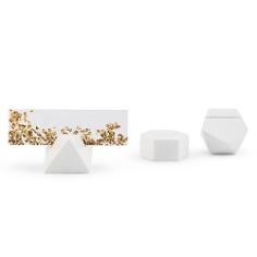 Tischkartenhalter Geometric Weiß