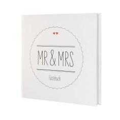 """Gästebuch Hochzeit """"Mr & Mrs"""""""