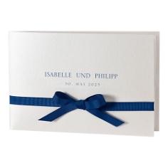 Hochzeitseinladung Svantje, blau