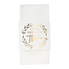 Breiter Taschentuchhalter, weiß, gold, mit Taschentüchern