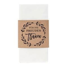 Taschentuchhalter Kraftpapier, schwarz, 1 St.