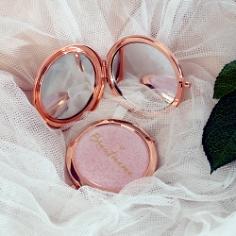 Taschenspiegel Brautmama, roségold
