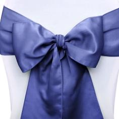 Stuhlschleifen Satin, marine blau, 10 St.