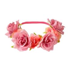 Haarband Blumenkranz, rosé