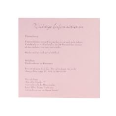 Einleger für Karte, rosa, perlmutt