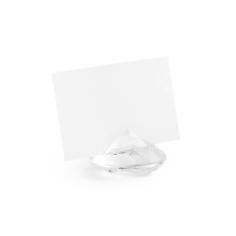 Tischkartenhalter Diamant, transparent