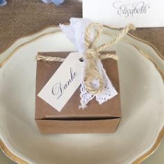 """Gastgeschenk """"Kallisti"""", weiß, creme, Vintage, Hochzeit Taufe, Kommunion"""