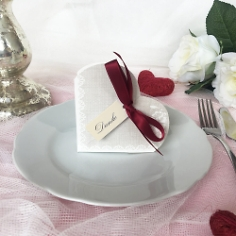 """Gastgeschenk """"Hestia"""", grau, bordeaux, Vintage, Hochzeit Taufe, Kommunion"""