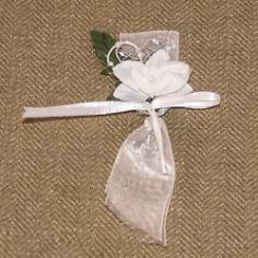 """Hochzeitsanstecker """"Orchidee"""", weiß"""