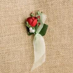 """Hochzeitsanstecker """"Rosen"""", rot"""