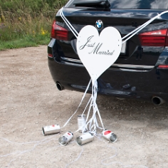 "Autoschmuck Herz ""Just Married"""