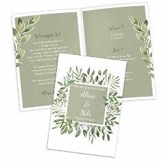 Einladungskarte botanical