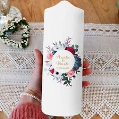Hochzeitskerze Blumen