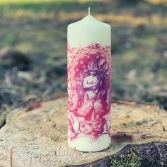 Design Kerze Vintage Nymphe