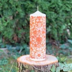 Designkerze Hope in Orange, 22 cm Vintage Edition