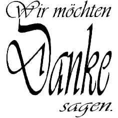 "Stempel ""Danke Vivaldi"" - Hochwertiger Stempel mit ""Danke"" Schriftzug"