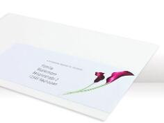 Adressaufkleber mit Calla-Blüte