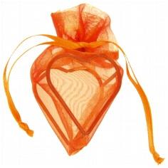 """Geschenksächcken""""Herz"""" in Orange für Gastgeschenke"""
