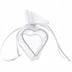 """Geschenksächcken""""Herz"""" in Weiß für Gastgeschenke"""