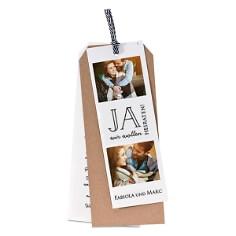 Hochzeitseinladung Fabiola Kraftpapierkarte