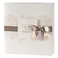Hochzeitskarte mit Satinband