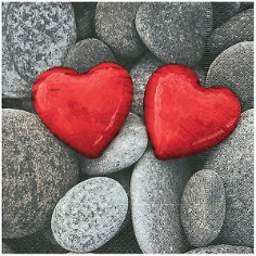 Serviette Herzen