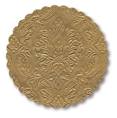 Untersetzer in Gold mit Ornamenten
