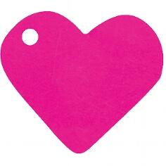 """Für die Hochzeit Anhänger """"Herz"""" in Fuchsia"""