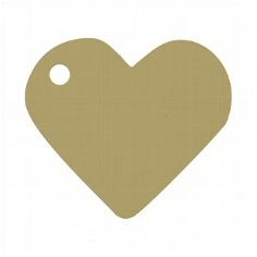 Goldener Dekoanhänger in Herzform