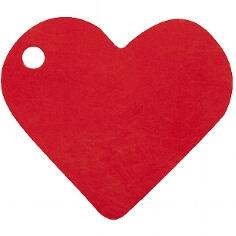 """Anhänger """"Herz"""" in Rot für das Gastgeschenk"""