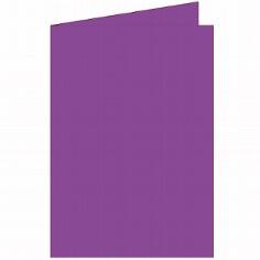 """Doppelkarten A5 """"Silky"""" von Artoz in Purpur"""