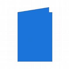 """Doppelkarten B6 """"Silky"""" von Artoz - Blau"""