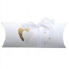 """Geschenkschachtel """"Golden Heart"""" für das Hochzeitsgeschenk"""