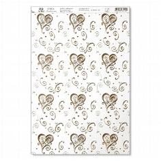 Artoz Kreativpapier A4 Dancing Heart selbstklebend gold