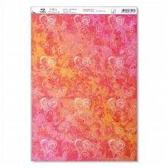 "Artoz Kreativpapier A4 ""Dancing Heart"" selbstklebend rot"