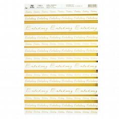 """Kreativpapier """"Einladung"""" transparent gold - Blatt"""