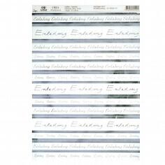 Kreativpapier Einladung transparent silber - Blatt