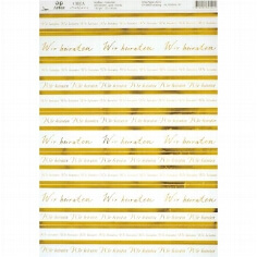 "Artoz Kreativpapier ""Wir heiraten"" transparent, gold"