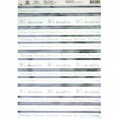"Artoz Kreativpapier ""Wir heiraten"" Transparent, silber"